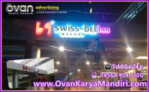 Huruf Timbul Acrylic Swiss Bel inn Prod.CV.OvanKaryaMandiri Advertising Raya Tlogomas 13 Malang