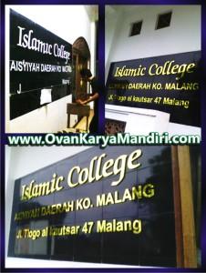 Huruf Timbul Acrylic mirror gold - OvanKaryaMandiri Avertising di Malang