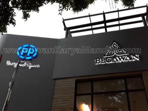 Huruf Timbul Letter Timbul Acrylic nyala full + Stainless Bias Belakang - OvanKaryaMandiri AdvertisingTlogomas Malang
