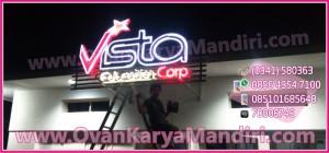 Huruf Timbul Letter sign Acrylic Vista Prod.OvanKaryaMandiri Raya_Tlogomas Malang