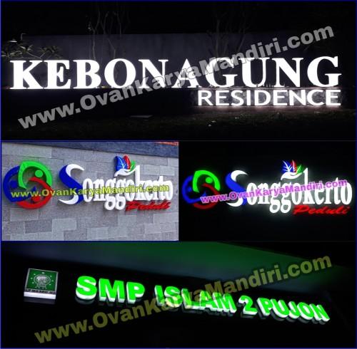 Huruf Timbul Lettersign Timbul Acrylic Led Nyala Bersinar 3D - OvanKaryaMandiri_Advertising Tlogomas Malang