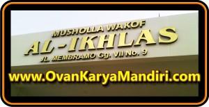 Letter Huruf Timbul Acrylic mirror gold OvanKaryaMandiri Advertising Raya Tlogomas 13 di Malang