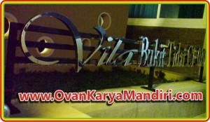 Nomor Rumah Huruf timbul stainless + Ram - Villa Bukit Tidar - OvanKaryaMandiri-Adv-di-Malang