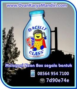 Bikin Neon box bentuk botol, bulat lingkaran, BISA.. Prod.CV.OvanKaryaMandiri Advertising di Tlogomas 13 Malang