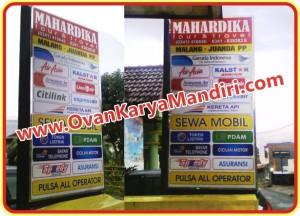 Neon box digital-printing Tour & Travel - OvanKaryaMandiri Advertising di malang