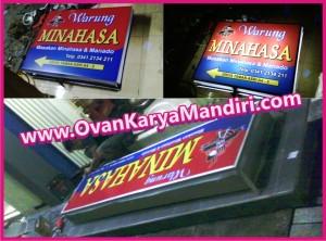 Neon box digital printing Warung - Restaurant - Produk.OvanKaryaMandiri Advertising di malang