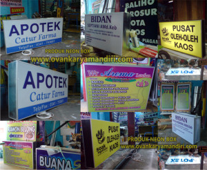 jasa pembuatan pesan bikin neon box di malang, neon box acrylic, backlite high quality, harga relattif murah berkualitas