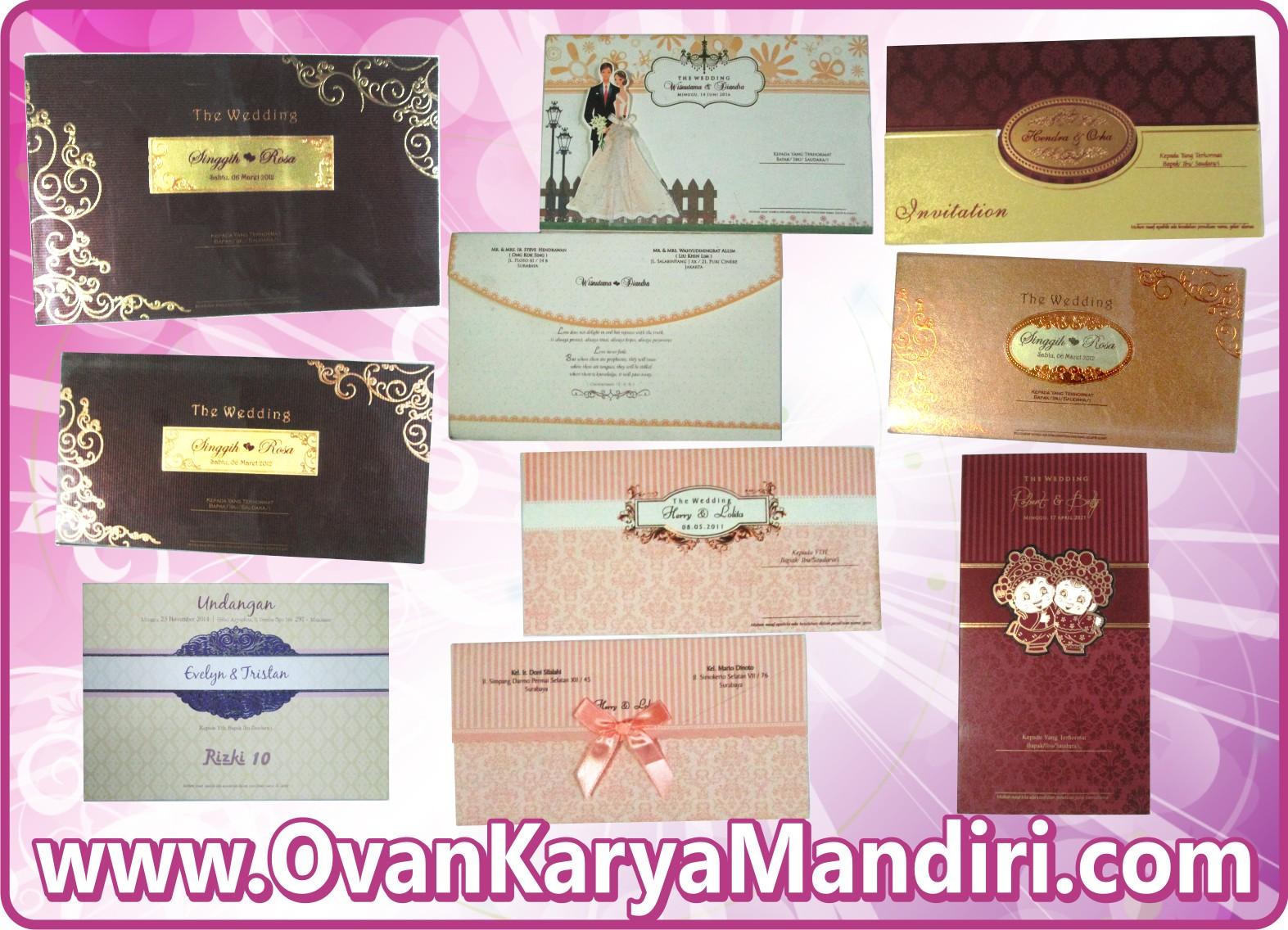 contoh desain undangan, pernikahan, hardcover, wedding ...