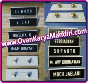 Name Tag - Papan nama dada PDH PNS - OvanKaryaMandiri Advertising Raya Tlogomas 13 Malang