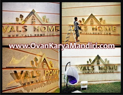 Letter Huruf timbul kuningan CV.OvanKaryaMandiri-Percetakan-Advertising di Malang